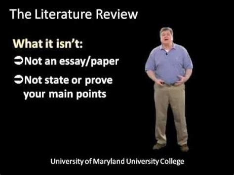 Review of literature in a research article